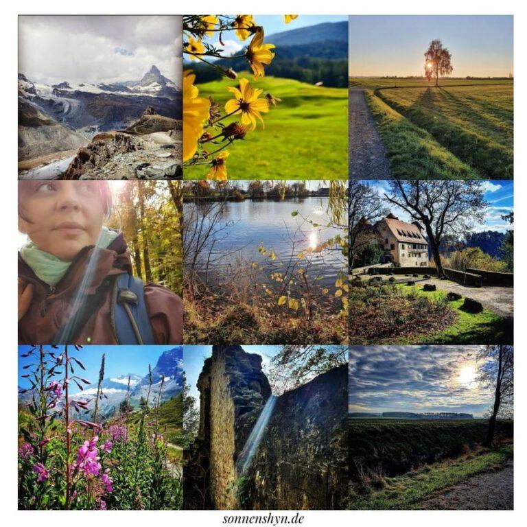 9 Bilder zusammengesetzt aus meinem Instragramfeed - Natur, Berge, Ruinen und Landschaft.